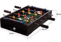 Mini asztali foci - 51 x 31 x 8 cm - fekete