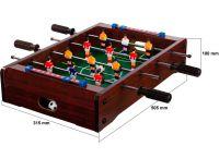 Mini asztali foci - 51 x 31 x 8 cm - sötét