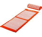 MOVIT akupresszúrás matrac 130 x 50 cm, párnával - narancssárga