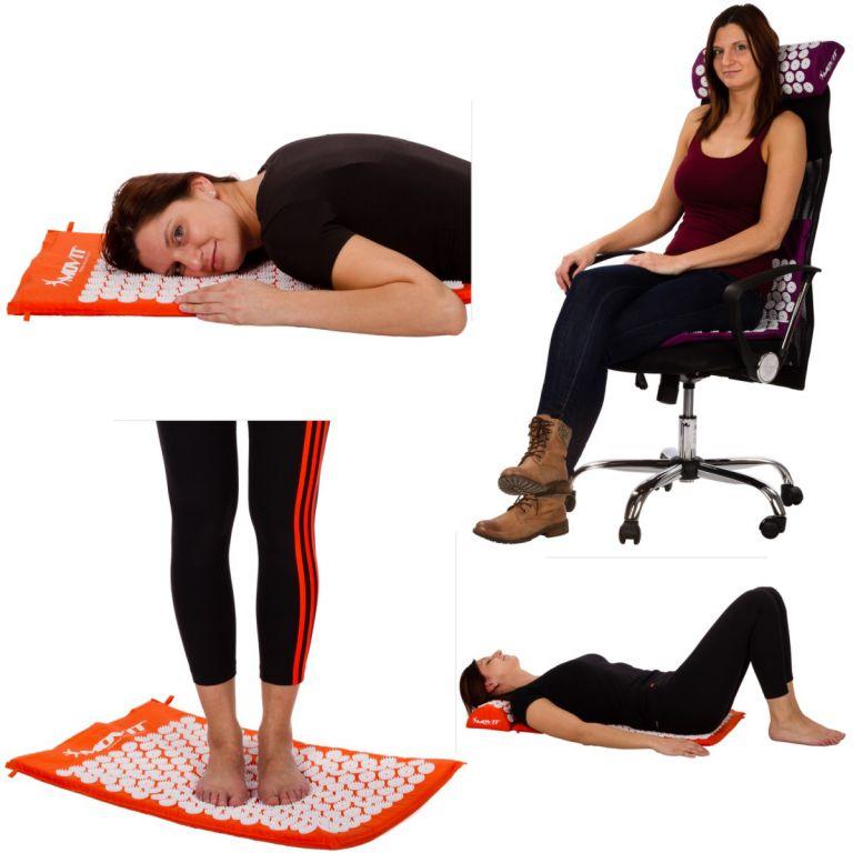 Akupresszúrás matrac MOVIT® 130 x 50 cm - rózsaszín