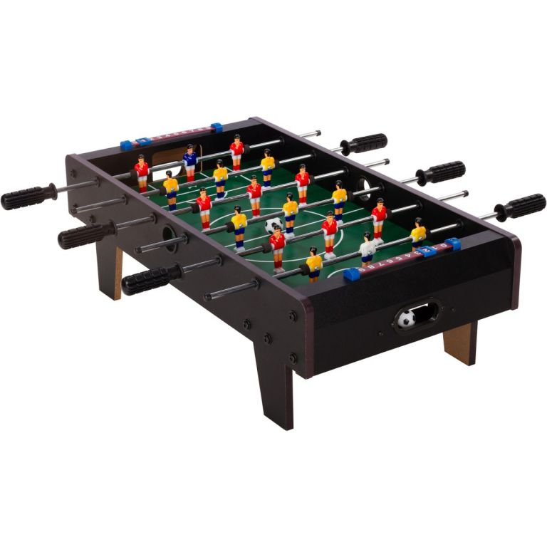Mini asztali foci lábakkal 70 x 37 x 25 cm - fekete