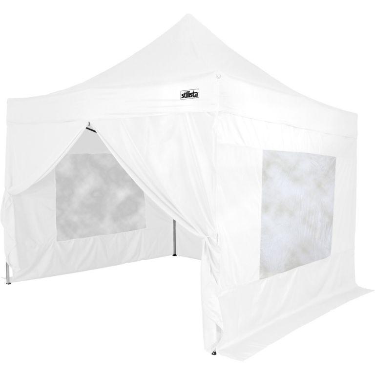 Kerti party sátor STILISTA összecsukható 3x3 m - fehér + 4 oldalfal