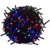 Karácsonyi LED fényfüzér 5 m - színes 50 dióda - zöld kábel