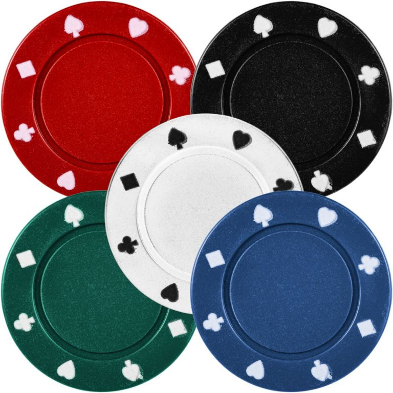 Póker zsetonok 200 db pléh dobozban