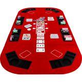 Kihajtható póker asztallap – piros