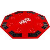 Kihajtható nyolcszögletű póker asztallap - piros