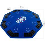 Kihajtható nyolcszögletű póker asztallap - kék