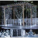 Karácsonyi LED fényfüggöny hideg fehér - 3 x 3 m 300 LED