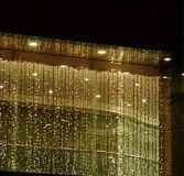 Karácsonyi LED fényfüggöny meleg fehér - 3 x 6 m 600 LED