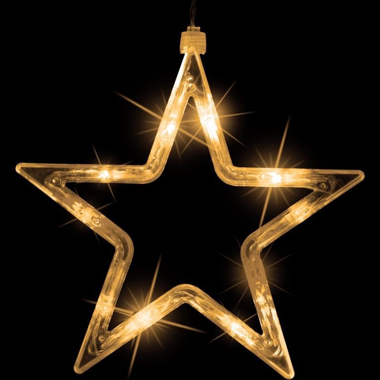 Karácsonyi világítás 150x LED csillag - meleg fehér