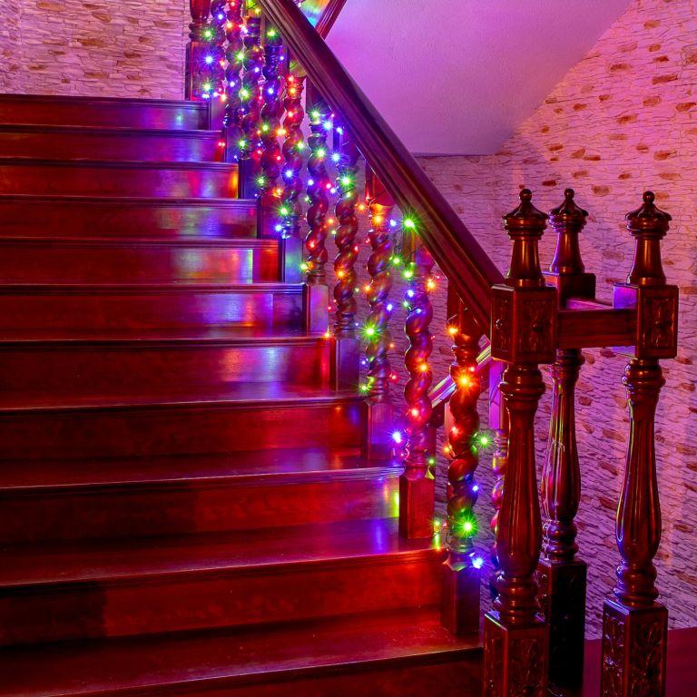 Karácsonyi fényfüzér beltéri és kültéri használatra.