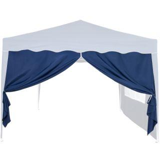 Oldalfal 3 x 3 m-es kerti sátorhoz - ablak nélkül, kék