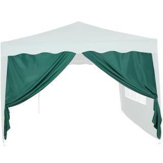 Oldalfal 3 x 3 m-es kerti sátorhoz - ablak nélkül, zöld