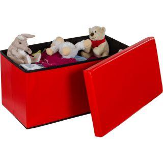 Összecsukható pad tároló helyel - piros