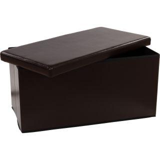 Összecsukható pad tároló helyel -  barna