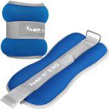 Neoprén csuklósúly bokasúly MOVIT® 2 x 0,5 kg - kék