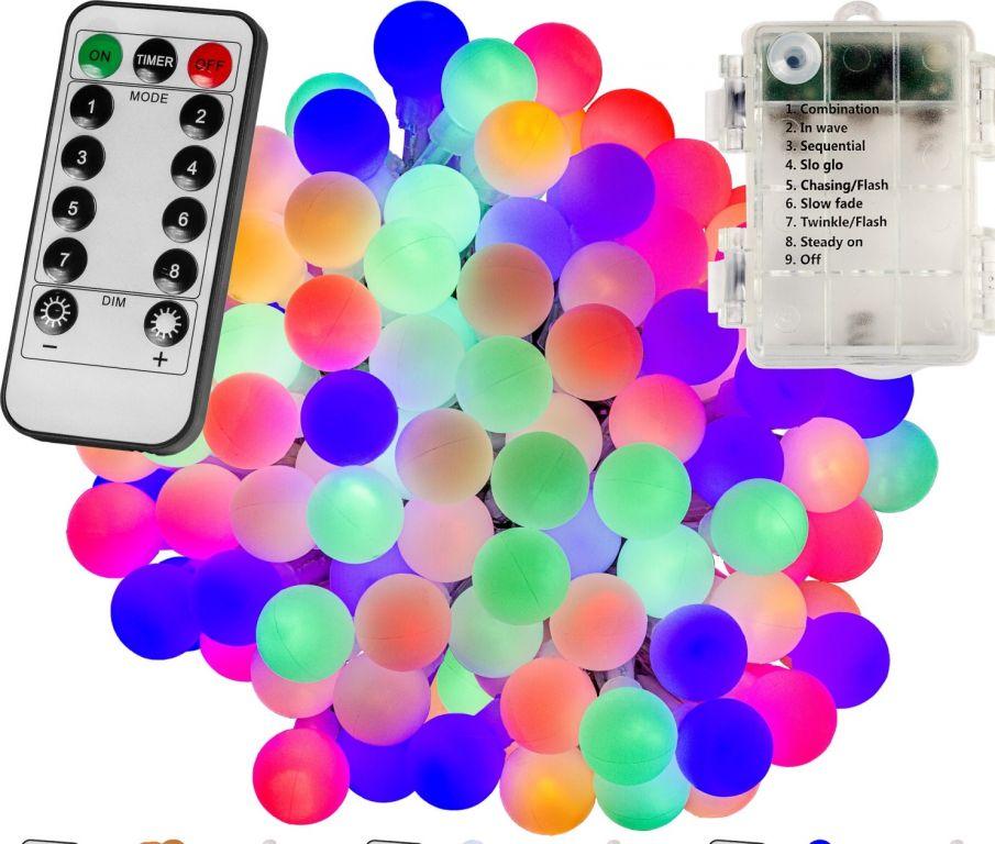 VOLTRONIC® Világítás 50 LED Színes 3AA + vezérlő