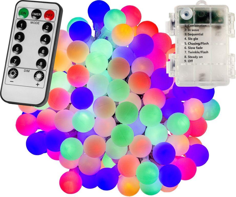 VOLTRONIC® Világítás 100 LED Színes 3AA + vezérlő