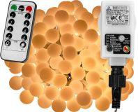 LED világítás 10m/100x LED - meleg fehér + távirányító