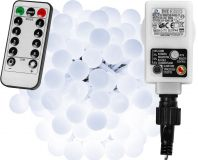 LED világítás 10m/100x LED - hideg fehér + távirányító