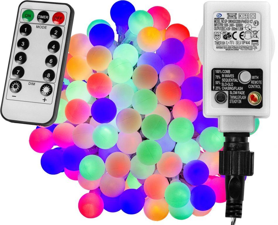 VOLTRONIC® Világítás 100 LED Színes + vezérlő