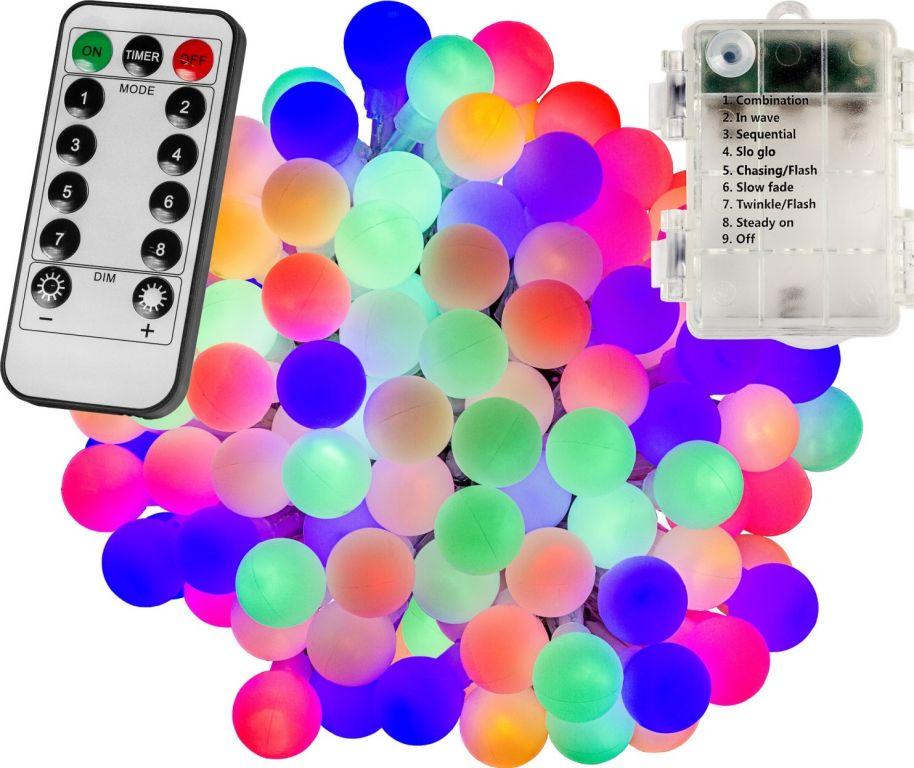 VOLTRONIC® Világítás 200 LED Színes 3AA + vezérlő