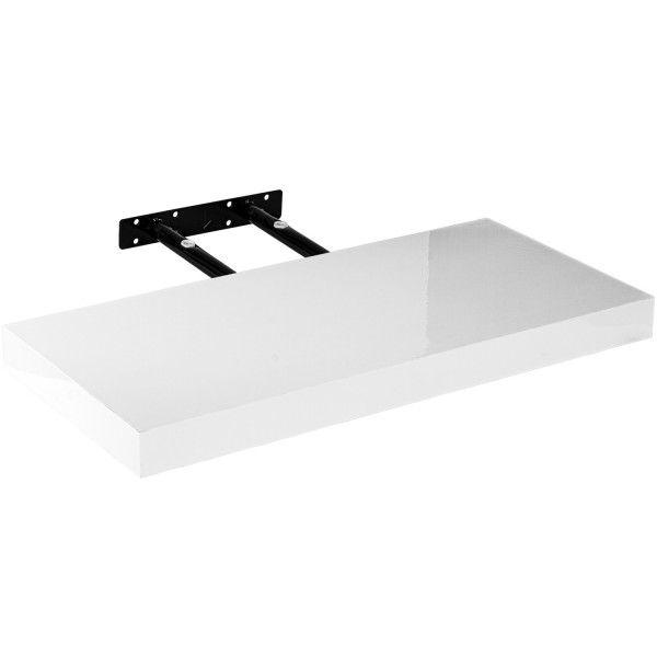 Fali polc Stilista® Volato Fényes fehér 60 cm