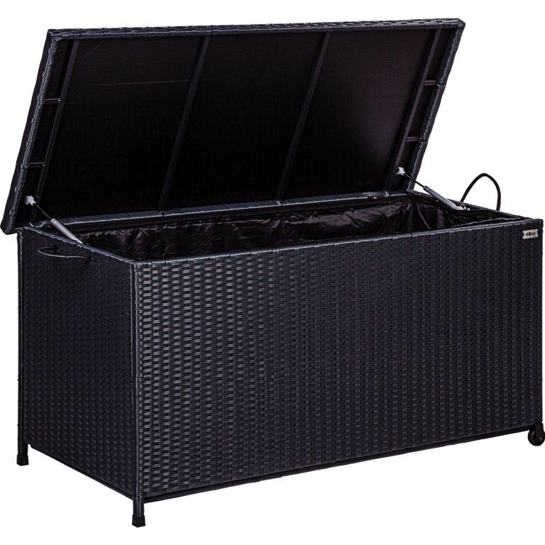 Kerti tároló doboz Stilista Fekete 122 x 62 x 56 cm