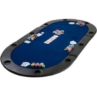 Kihajtható póker asztallap TUIN - kék