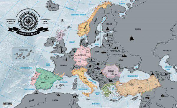 Európatérkép kaparós Deluxe 87 x 55 cm