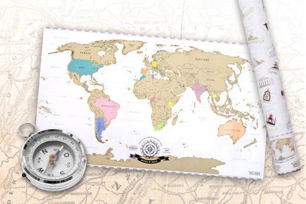 Világtérkép kaparós 82 x 45 cm