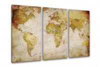 Hagyományos fali világ térkép - 120 x 80 cm