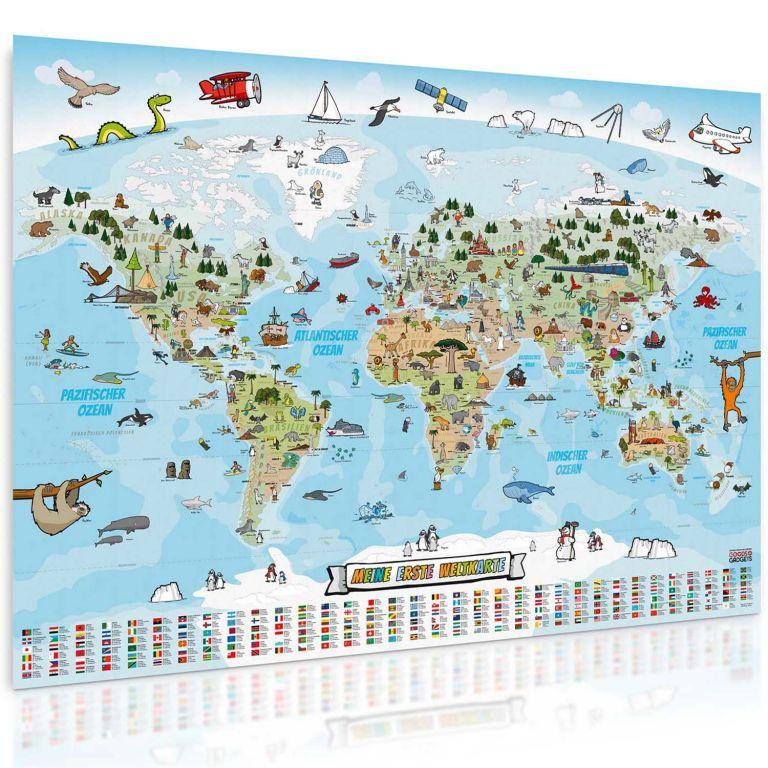 Világtérkép gyerekeknek 140 x 100 cm francia nyelv