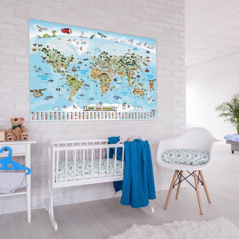 Világtérkép gyerekeknek 140 x 100 cm angol nyelv