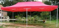 Kerti sátor pavilon DELUXE 3 x 6 m - piros