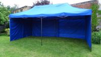 Kerti Parti sátor DELUXE 3 X 6 m - kék + oldalfalak