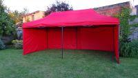 Kerti parti sátor DELUXE 3 x 6 m - piros + oldafalak