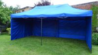 Kerti party sátor DELUXE lábazattal ellátva - oldalflalk - 3 x 6 m