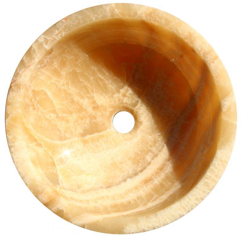 Mosdókagyló természetes kőből - GEMMA 501 Onyx Ø40