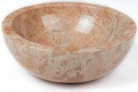 Mosdókagyló természetes kőből - GEMMA 501 Márvány Ø45
