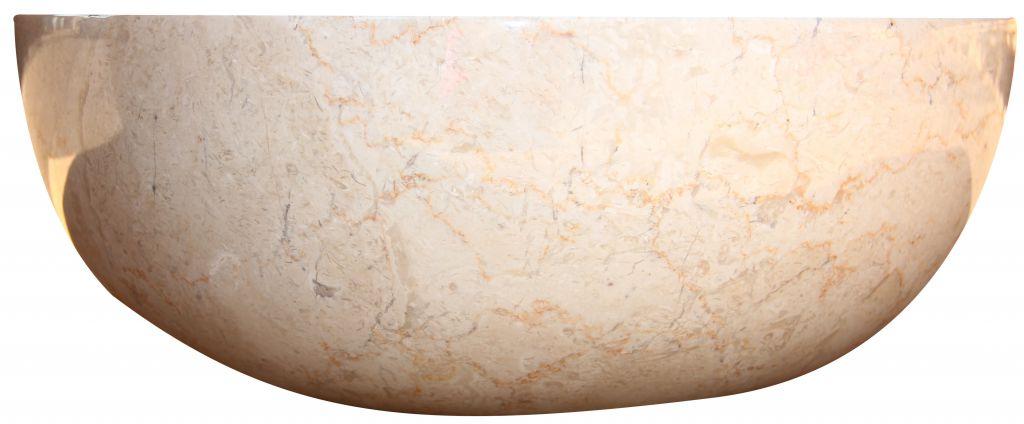 Mosdókagyló természetes kőből - GEMMA 501 Márvány Ø45 Cream