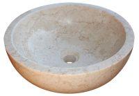 Mosdókagyló természetes kőből - GEMMA 501 Márvány Ø50 Cream