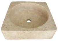 Mosdókagyló természetes kőből - HANDWASH Cream