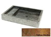 Mosdókagyló természetes kőből - KOTAK Trap Marmo Yellow