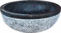 Mosdókagyló természetes kőből - GEMMA 501 Márvány Ø45 Black