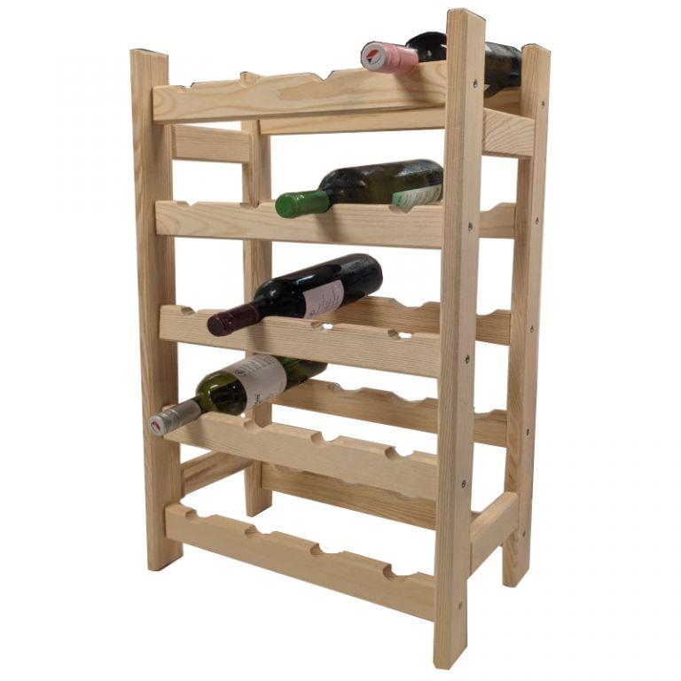 Fa állvány italokhoz 20 üveghez