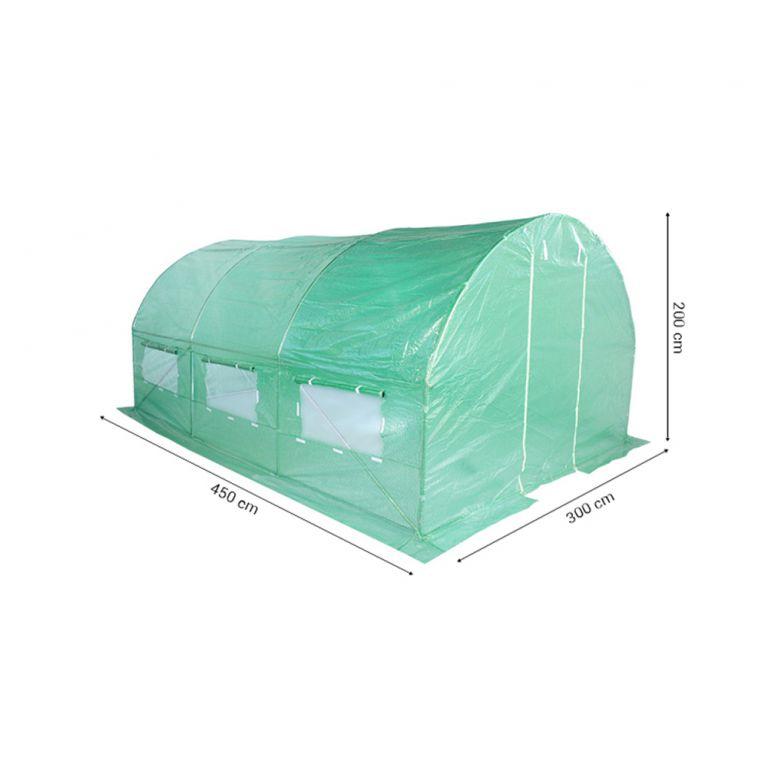 Fóliasátor 300 x 450 cm - zöld