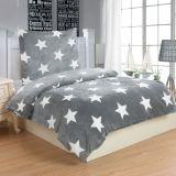 Ágynemű STARS GREY - szürke