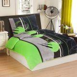 Ágynemű PORTO - zöld/fekete
