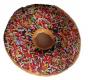 Dekoratív párna 3D donut - színes